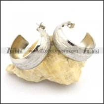 big pierced earrings with wide of 9mm e000896