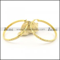 stainless steel gold circle earrings e000862
