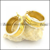 gold plated earrings e000780