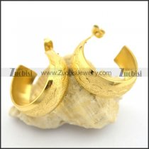 gold fashion earrings for elegant ladies e000900