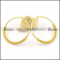 gold clip on earrings e000874