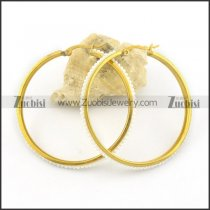 gold plated earrings e000778