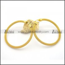 6mm yellow gold net hoop earring e000923