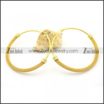 6mm net hoop earrings e000924