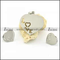 LOVE jewelry set including pendant and earring s000776
