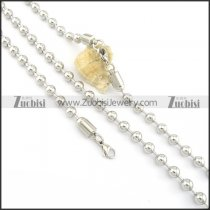 small ball chain necklace set in 8mm wide s000830