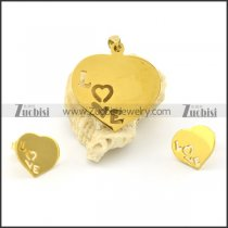 LOVE jewelry set including pendant and earring s000777
