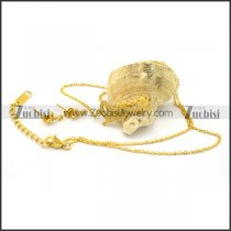 Gold Love Charm Necklace Set in Stainless Steel s001192