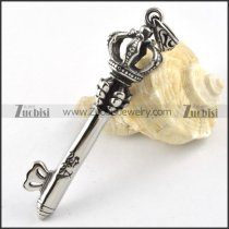 Crown Stainless Steel Key Pendant - p000183