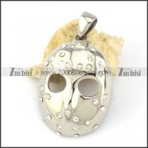 halloween masks jewelry pendant in stainless steel metal -p000599