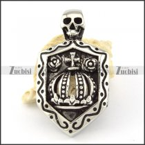 Stainless Steel Crown Skull Pendant -p000616