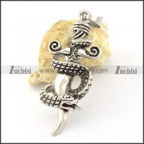 economic Stainless Steel viper Snake Cross Pendants - p000527