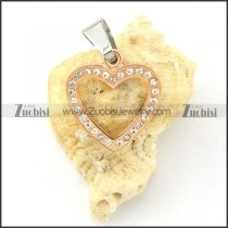attractive Rose Gold oxidation-resisting steel Heart Pendants - p000491