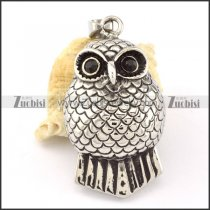 Stainless Steel Owl Pendant -p000632