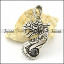 Stainless Steel fiery dragon Pendant -p000813