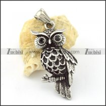 Petty Stainless Steel Owl Pendant -p000635