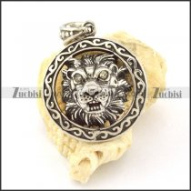 Stainless Steel tame lion Pendant -p000793