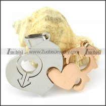 good welcome oxidation-resisting steel Heart Couples Pendants -p000949