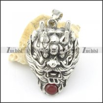 41 long dragon pendant with red ball p001584
