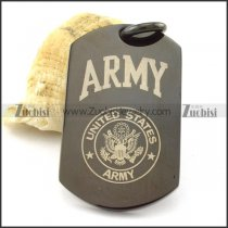 enjoyable stainless steel military dog tags with black plated -p001222
