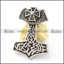 Stainless Steel Cross Hammer of Thor Pendant -p000854