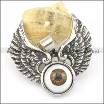 angel wing and eye pendant p001578