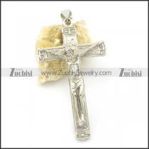 silver stainless steel cross pendants for women p001507
