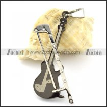 black violin pendant in stainless steel -p000966