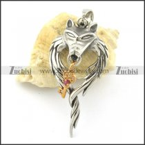 casting wolf king pendant p001357