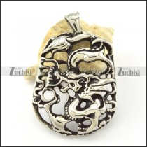 Stainless Steel Casting Dragon Pendant -p000839