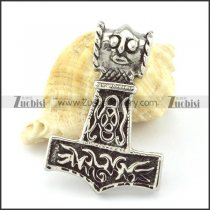 Stainless Steel Hammer of Thor Pendant -p000851
