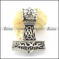 Steel Devilkin Hammer of Thor Pendant for Motorcycle Bikers -p000903