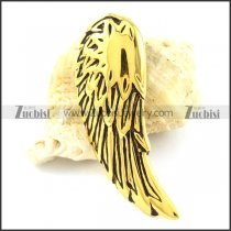 Vintage Gold Stainless Steel Wing Pendant -p001089