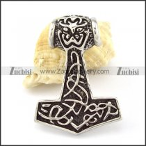 Stainless Steel Hammer of Thor Pendant -p000849