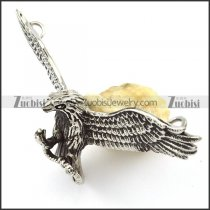 stainless steel flying eagle pendant crafted casting -p001137