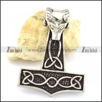 Stainless Steel Sheep 's head Hammer Pendant -p001094