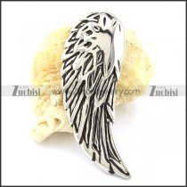 Silver Stainless Steel Angel Wing Pendant -p001088