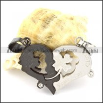 hot selling noncorrosive steel Heart Couples Pendants -p000955