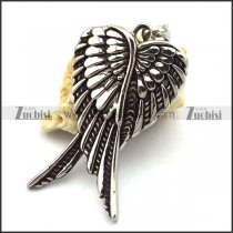 46mm Long Vintage Angel Wing Pendant p001933