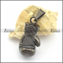 Black Stainless Steel Boxing Glove Pendant p001794