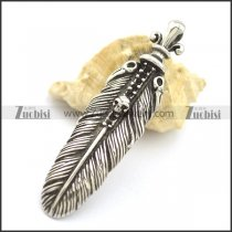 63mm Large Casting Feather Pendant p002046