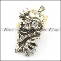 With gray eyes ghost stainless steel pendant p001613