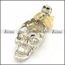 Large Hollow Skulls Pendant without Zircon p002265