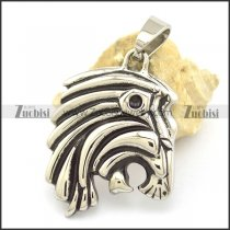 Cool Lion Head Pendant with Bail p002165