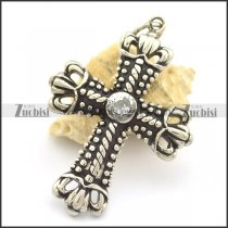 Crown of Thorns Cross Pendant p002177