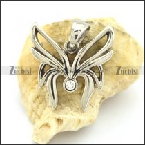 fancy clear rhinestone butterfly charm with melon seed buckle p002089