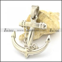 Silver Stainless Steel Anchor Pendant with Chain p002160