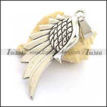 Stainless Steel Wing Pendant p002157