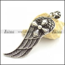 Angel Wing Pendant with Cross p002156