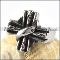 Normal Stainless Steel Cross Ring - r000079
